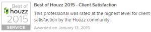 Houzz Best of in customer satisfaction