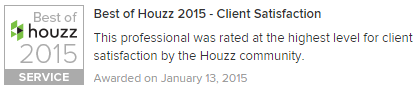 Houzz Best of in customer satisfaction