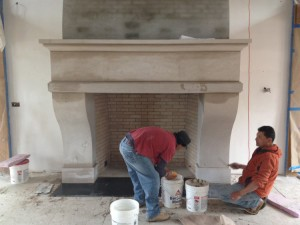 JCI building a fireplace